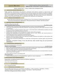 Resume For Legal Assistant Legal Resume Examples Resume Professional Writers