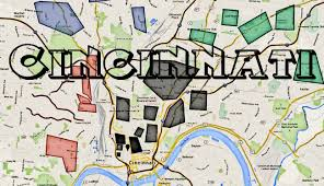 Map Oh Ohio by Cincinnati Gangs And Hoods Map Of Ohio