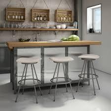 kitchen black white modern leather bar stools with black iron
