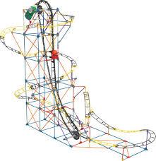 High Chair Rocking Horse Desk Plans K U0027nex Hornet Swarm Roller Coaster 617 Pieces Building Set Toys