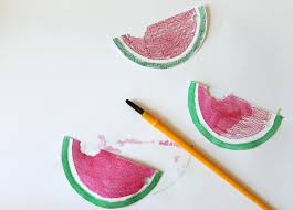 diy watermelon watercolor gift tags weekend pursuits