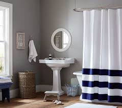 Kids Bathroom Shower Curtain Striped Bottom Shower Curtain Pottery Barn Kids
