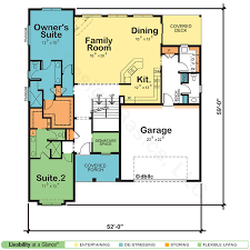 dual master bedroom floor plans dual owner suite home plan blueprint blues craftsman