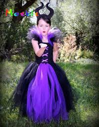 maleficent evil queen tutu dress children halloween cosplay