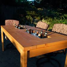 Make Wood Patio Furniture by Patio Table With Built In Beer Wine Coolers