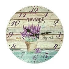 Pendules De Cuisine Originales by Pendule Horloge Murale Neuve Deco Bois Pot Lavande De Provence