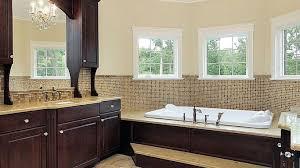expensive bathrooms luxury brown varnished wooden vanity cabinet