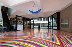 impressive colorful vinyl flooring modern floor decoration with