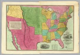 Map Of The States In The United States by Map Of The United States Of America David Rumsey Historical Map