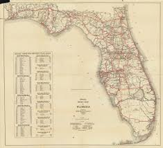 Map State Of Florida by Florida Memory Official Road Map Of Florida 1930