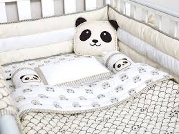 Baby Crib Bed Sets Modern Panda Organic Cot Bedding Set