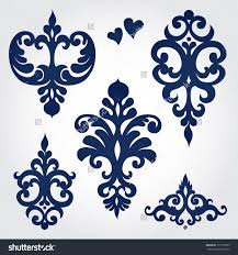 vector set with baroque ornaments in style ornate
