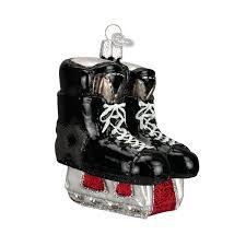 amazon com old world christmas hockey skates glass blown ornament