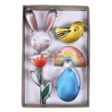 meri meri rabbit meri meri easter bunny cookie cutters 4 pack 9781633259515 ebay
