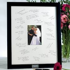 signable wedding guest book picture frame exclusively weddings