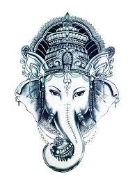 12 x 20 cm black white thai elephant art temporary peace tattoo