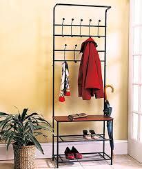 Entry Way Bench And Shelf Metal Entryway Bench Coat Rack Seat Hat Shoe Organizer Shelf