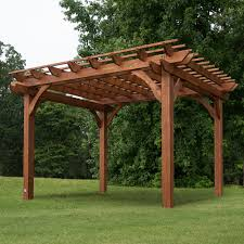 12 u0027 x 10 u0027 pergola cedar pergola pergolas and backyard