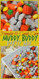 pumpkin candy corn pumpkin and candy corn muddy buddies party mix the thrifty