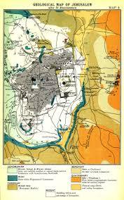 Map Of Jerusalem George Adam Smith 1848 1910 Jerusalem The Topography