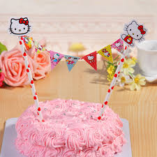 hello kitty cupcake topper banner bunting for birthday party boy