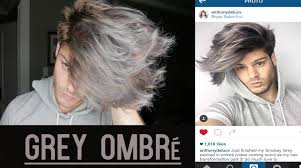 men u0027s hair transformation silver ombré tutorial anthony deluca