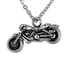 cheap cremation jewelry stainless steel vintage silver motorcycle charm cremation