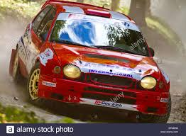 toyota rally car 1998 toyota corolla wrc rally car with driver johnny milner at the