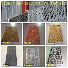 Decorative Metal Fence Panels Aluminum Perforated Sheet Metal Fence Panel For Decorative Buy