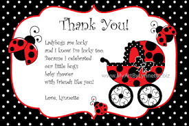 Thank You Cards For Baby Shower Gifts - lynnetteart ladybug baby shower party invitations