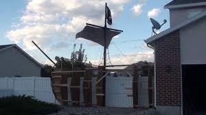 halloween house flags 2016 halloween pirate ship in progress youtube