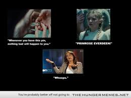 Hunger Games Memes Funny - so of course prim gives it to katniss to protect her in the arena