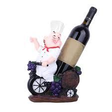 creative resin chef wine rack wine stand european wine bottle holder