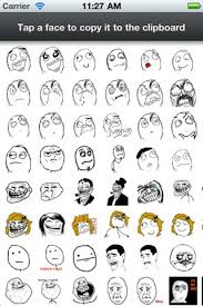Meme Text Faces - rage faces for sms sms rage faces to your friends ios