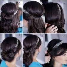 Frisuren Anleitung Mit Haarband by Haarband Frisur Haarbandfrisur Rolltechnik Frisuren Freitag