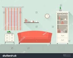 home interior modern interior design living stock vector 302699843