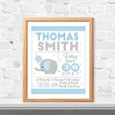 baby blue elephant party set printable personalized polka dot