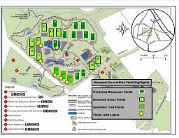 Maryland State Parks Map by Maryland Soccerplex And Central Park