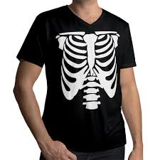 Halloween Skeleton Top by Rib Cage Body Skeleton Halloween Costume Funny Cool Mens Unisex V