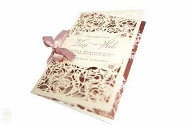 laser cut wedding programs regal gold ceci style