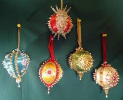 Christmas Ornaments Balls Crafts by 163 Best Sequins Vintage Christmas Ornaments Images On Pinterest