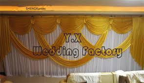 wedding backdrop curtains for sale hot sale one set wedding backdrop curtain with gold or purple