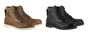 motorcycle sneakers the new heritage oscar by alpinestars monty boots