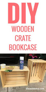 Crates For Bookshelves - diy wooden crate bookshelves made with the new unfinished crates
