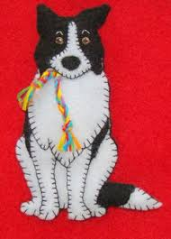 border collie puppy handmade felt by justsue on etsy