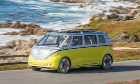 green volkswagen van vw to revive u002760s microbus with new all electric van