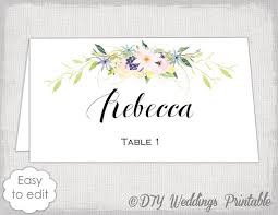 place card template name cards diy flower