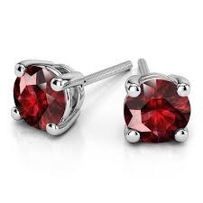 ruby stud earrings 18k gold ruby stud earrings 6mm giacobbe company