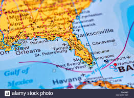 Amelia Island Florida Map Florida State In Usa On The World Map Stock Photo Royalty Free