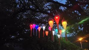 Multi Colored Solar Garden Lights by Solar Light 7 Led Color Hanging Lamp Multi Colored Solar Garden
